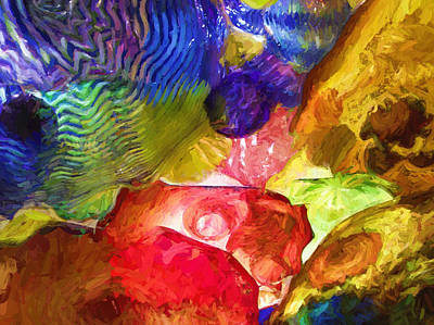 Photograph - Stained Glass Lightness by Jeff Folger