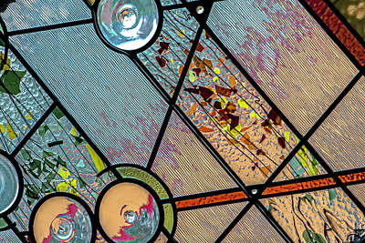 Photograph - Stained Glass Long Room Dsc7856 by Raymond Kunst