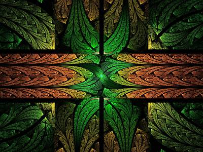 Apo Digital Art - Stained Glass by Lyle Hatch