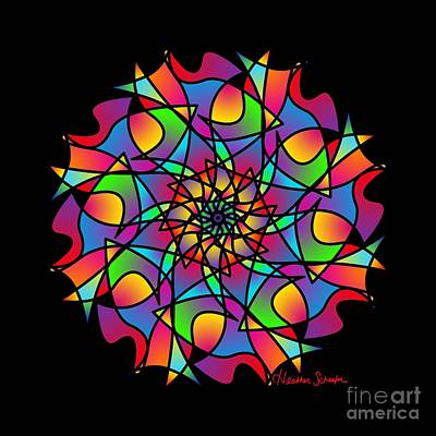 Digital Art - Stained Glass Mandala by Heather Schaefer