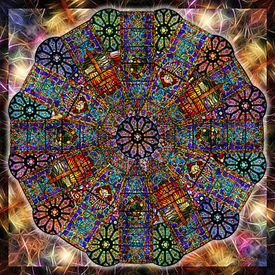 Photograph - Stained Glass Mandala by Mike Braun