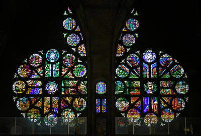 Photograph - Stained Glass Our Lady Of The Rosary Cathedral Manizales Colombia by Adam Rainoff
