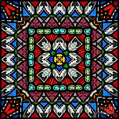 Stained Glass Panel Art Print by Paul Cummings
