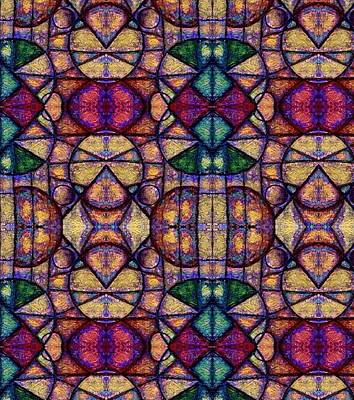 Digital Art - Stained Glass Patterns by Megan Walsh