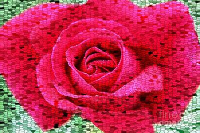 Photograph - Stained Glass Rose 2 by Clare Bevan
