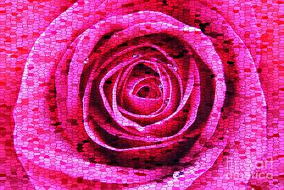 Photograph - Stained Glass Rose by Clare Bevan