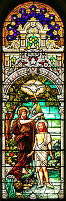 Photograph - Stained Glass Scene 2 Crop 2 by Adam Jewell
