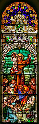 Photograph - Stained Glass Scene 6 Crop by Adam Jewell