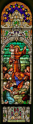 Photograph - Stained Glass Scene 6 Full Size by Adam Jewell