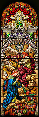 Photograph - Stained Glass Scene 7 Crops by Adam Jewell