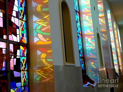 Digital Art - Stained Glass Shadows by Ed Weidman