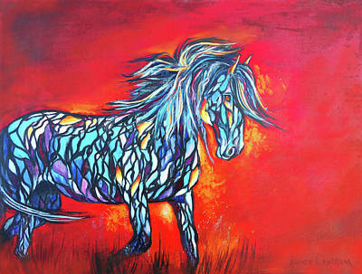 Painting - Stained Glass Stallion by Karen Kennedy Chatham