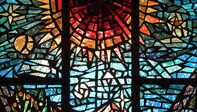 Photograph - Stained Glass Sun by Michael Flood
