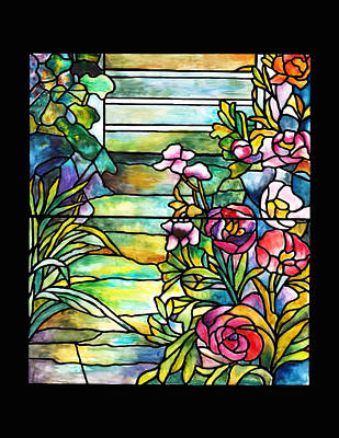 Stained Glass Tiffany Robert Mellon House Art Print by Donna Walsh