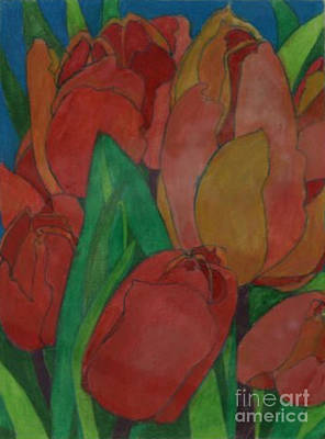 Painting - Stained Glass Tulips by Diane montana Jansson