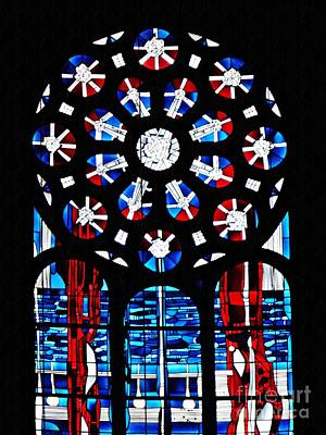 Photograph - Stained Glass Window At St Boniface Church  by Sarah Loft