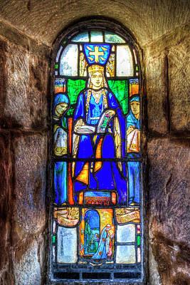 Stained Glass Window Edinburgh Art Print by David Pyatt