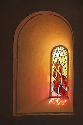Photograph - Stained Glass Window by Inge Riis McDonald