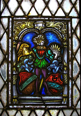 Photograph - Stained Glass Window - Knights by Colleen Kammerer