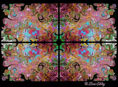 Stained Glass Window Art Print by Loxi Sibley