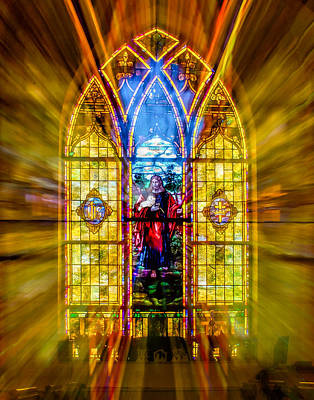 Photograph - Stained Glass Window -mantua by Nick Zelinsky