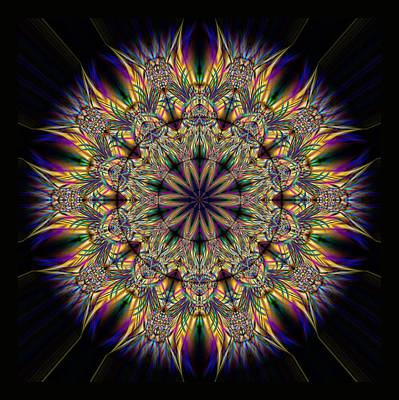 Crystalline Digital Art - Stained Glass Ornament by Mark Greenberg