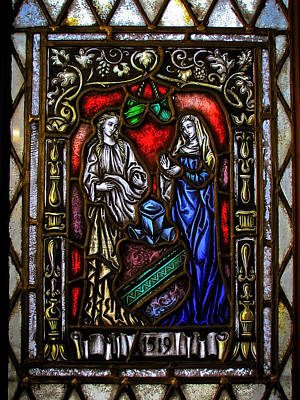 Photograph - Stained Glass Window - Two Women by Colleen Kammerer