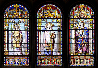 Stained-glass Windows Art Print