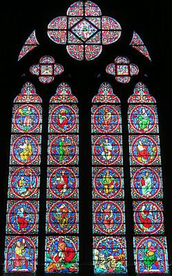 Photograph - Stained Glass Windows Of Notre Dame by Betty Buller Whitehead