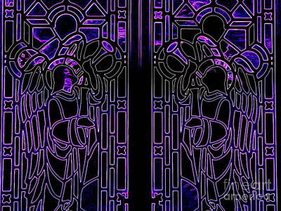 Digital Art - Stained Glassed Doors by Ed Weidman