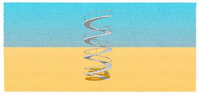 Brutalism Digital Art - Stair 16 Escalera Caracol Al Cielo by Pablo Franchi