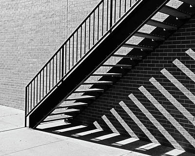 Photograph - Stair Angle Shadow by Christopher McKenzie