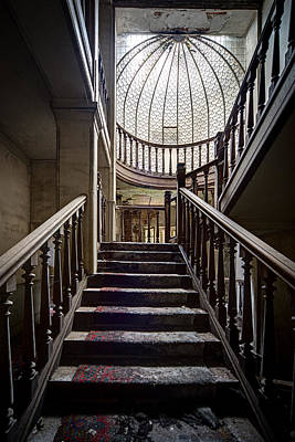 Stairs To The Light - Urban Exploration Art Print