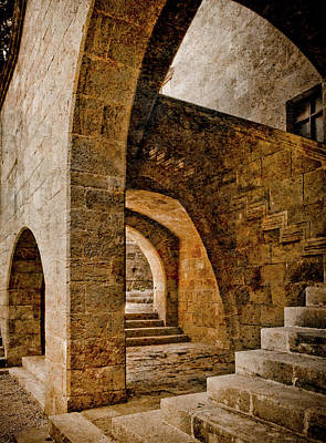 Photograph - Rhodes, Greece - Stair by Mark Forte