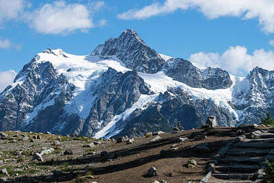 Photograph - Stair Steps Toward Mt Shuksan by Tom Cochran