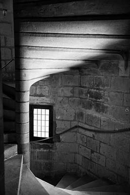 Food And Flowers Still Life Rights Managed Images - Staircase Chateau Langleas Royalty-Free Image by Hugh Smith