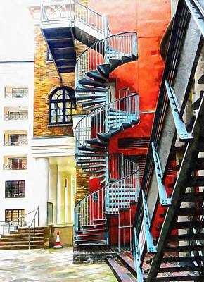 Photograph - Staircase Contrasts by Dorothy Berry-Lound