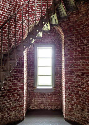 Photograph - Staircase In Lighthouse by Greg Nyquist