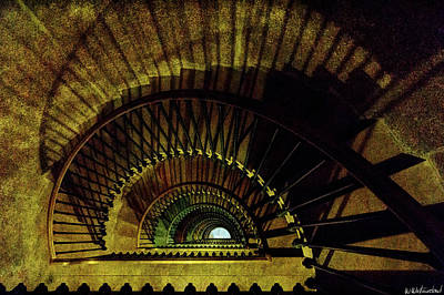 Photograph - Staircase In Montfaucon American Monument From The Top by Weston Westmoreland
