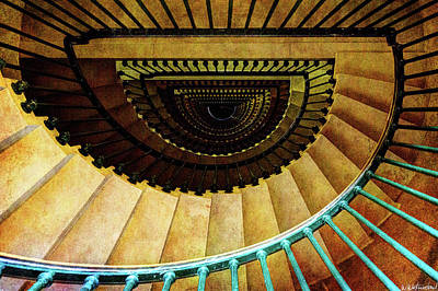Photograph - Staircase In Montfaucon American Monument by Weston Westmoreland