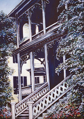 Wall Art - Painting - Staircase Of Cape May by Gaye Elise Beda