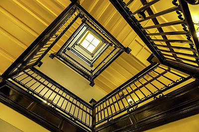 Photograph - Staircase Of The Old Capitol 2 by Jonathan Nguyen