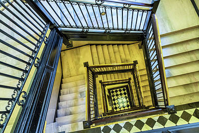Photograph - Staircase Of The Old Capitol 3 by Jonathan Nguyen