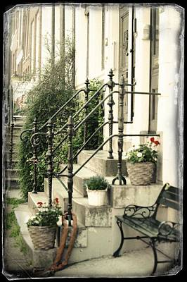Photograph - Staircase. Old Cards From Amsterdam  by Jenny Rainbow