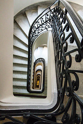 Photograph - Staircase, Palacio Barolo, Buenos Aires by Venetia Featherstone-Witty