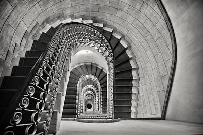 Staircase Perspective Art Print by George Oze