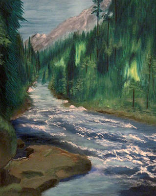 Olympic National Park Painting - Staircase Rapids by Richard Beauregard