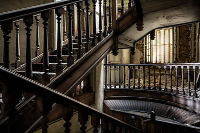 Haunted House Photograph - Staircase Rhythm - Abandoned Castle by Dirk Ercken