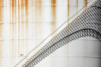 Industrial Photograph - Staircase Shadows by Todd Klassy