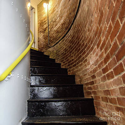 Photograph - Staircase, Spring Point Ledge Light, So. Portland, Maine #30027 by John Bald